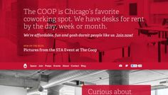 COOP - Web design inspiration from siteInspire #red #webdesign