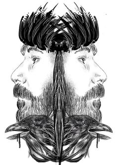 Male instinct part 1 by Mateusz Suda #hard #ink #instinct #graphic #black #homo #illustration #male #gay #crow