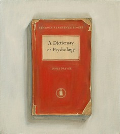 Dictionary of Psychology, 2012, oil on canvas, 9 x 10 inches