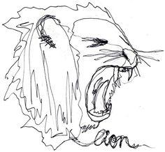 CR. #tumblr #lion #animal #com #pencil #crollan