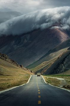 Road #clouds #mountain #landscape