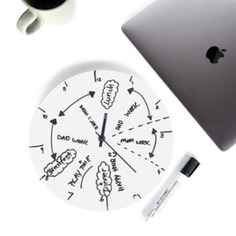 The Whiteboard Clock helps you organize and keep track of your day at a glance! Map out tasks, create a daily schedule, write reminders, or customize it using any dry-erase markers. It's time management made easy! Made in Australia.