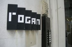 Rogan NYC Store #signage #blockletters #modern