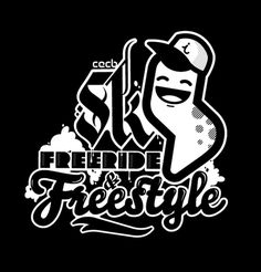 SKI, FREERIDE #illustration #vector #freestyle #apparel