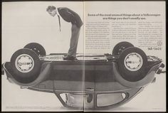 1974 VW Volkswagen Beetle upside-down car photo ad | eBay #volkswagen #1970s