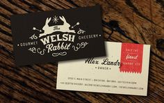 The Welsh Rabbit #design #graphic #cards #business