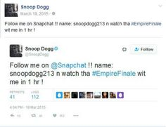 Snoop Dogg's Snapchat Name