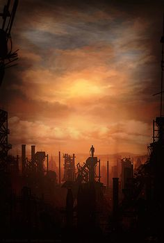 The Art Of Animation, Martin Bland #fantasy #stranger #illustration #industrial #concept #silhouette #painting #art