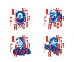 Língua Franca - Álbum on Behance #illustration #blue #french #type