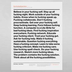 Effektive Blog #print #poster #rules