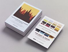 Studio Output's soundwave concert postcards #print #studio output #sound wave