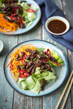 Crispy fried beef salad | DonalSkehan.com, Healthy midweek meal with a twist.
