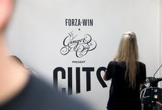Cuts #acrylic #lettering #mural #food #paint #wall #logo #hand