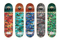 "Image of Expedition One ""Aloha Bitches!"" Skate Deck Series #design #illustration #skate #decks #skateboard #skateboards"