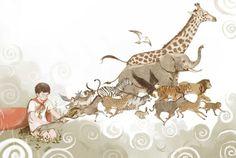 Dreamlike and Narrative Storybook Illustrations by Jin Xingye