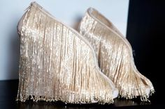 Pinned Image #laboutin #beads #shoes #marchesa