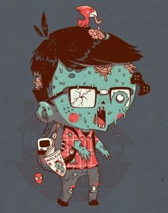 nerdead | Flickr - Photo Sharing! #nerd #dead #illustration #zombie