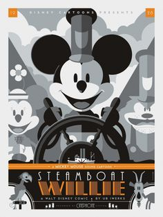 Tom Whalen, Steamboat Willie #steamboat #disney #willie #poster