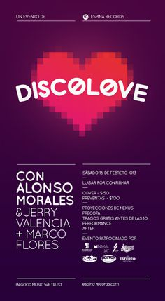 Discolove by Espina Records #sonora #disco #kestudiomx #pink #grid #mxico #dj #purple #music #love