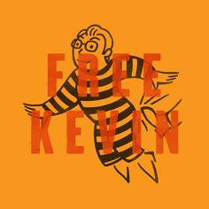 Free Kevin by Justin Pevrose #type #distress #monopoly #jail #free kevin