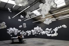 CJWHO ™ (Paper Clouds Suspended in Geometric Clusters by...)