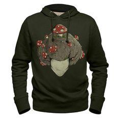 #soil mushroom #green #hoodie #sweatshirt #Virgil #head #mushroom #drawing