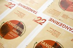 Tangerine: 2012 BFA Graphic Design Exhibition on Behance #thesis #print #communications #public