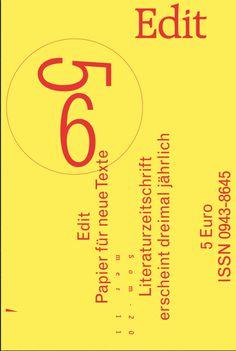 Bureau David Voss - Edit Magazine #covers #publication #poster