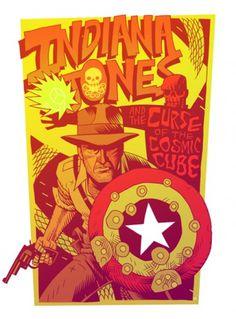 http://mrhipp.tumblr.com/ #jones #indiana #mashup #dan #hipp #illustration #comics