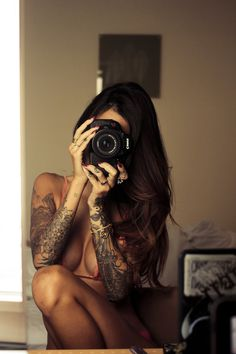 Ink'd Girls #camera #tattoo #girl #escortsladies