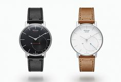 The Withings Activité Smart Watch blends the style and function of a classic timepiece with a contemporary health program. #smartwatch #accessories #design #retro #contemporary #smart #technology #men #fashion #watches