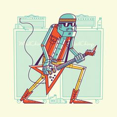 athfest_bag2 #guitarist #robot