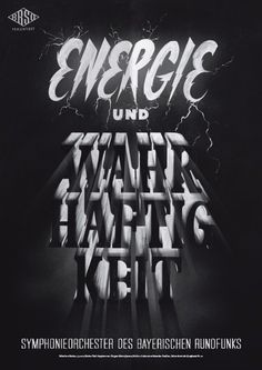 Typeverything.comPoster (11 of 13) from a campaign for the Bavarian Radio Symphony Orchestra by Mirko Borsche. #type