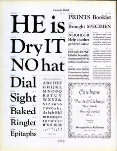 Goudy Bold type specimen #type #specimen #typography