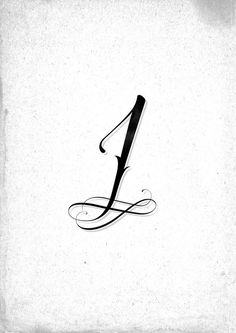 "Ornamental ""One"" #calligraphy #ornamental #one #type #typography"