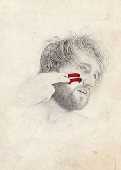 The Mind's Apocalypse – Tom Dilly Littleson #illustration #portrait