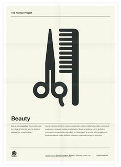 The Human Project (Beauty) Poster #inspiration #creative #design #graphic #grid #system #poster #typography