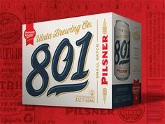 Uinta 801 Pilsner Case #packaging #beer