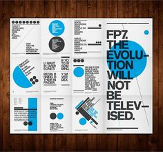 FP7. Self Promotion Posters on the Behance Network #typography #geometric #shapes #self promotion #folded flyer