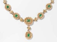 Smaragd-Diamant-Collier