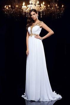Robe de soirée de traîne courte avec zip de princesse ligne a avec perle - photo 4