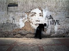 Street art(Deconstructed Wall Art by Alexandre Farto, aka VHILS, via theblackworkshop) #farto #alexandre #art #street