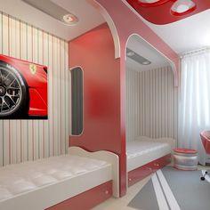 Teen bedroom with art decor