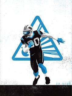 PEP #Illustration by Matt Stevens #Sports #NFL #Carolina #Panthers #American #Football