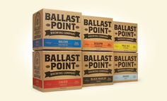New Logo, Identity, and Packaging for Ballast Point by MiresBall #shipper