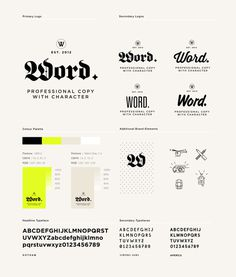 Word. on Behance #identity