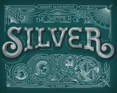 Silver Lettering Typography