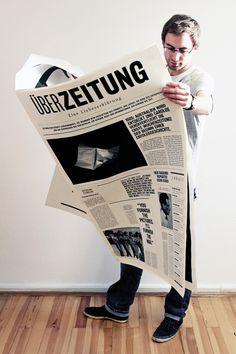 Überzeitung – Eine Liebeserklärung on Behance #newspaper