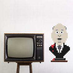 Alfred #puxxle #alfred #puzzle #pixel #bust #wall #hitchcock #art