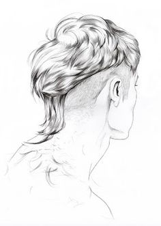 Lítill Blóm #sexy #undercut #hair #illustration #male #drawn #minimal #bleistift #hand